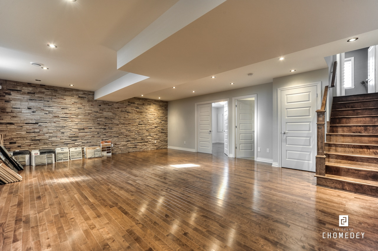 Luxury new homes in laval les cours chomedey basements for Luxury basements